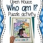 Great Open house activity! This project is great to put up for back to school, open house, or meet the teacher night!  Students write 6 facts about them that others will use ...