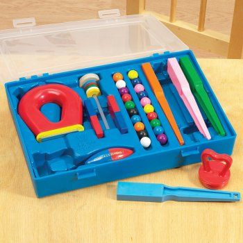 An ideal set for developing magnetic investigation. First Experiments Magnetism Set includes 4 wands, 20 magnetic marbles, a super magnet, a set of floating ring magnets, a small horseshoe magnet and a compass magnet. Also included is a useful booklet with 16 experiments linked to the KS1 Science curriculum.