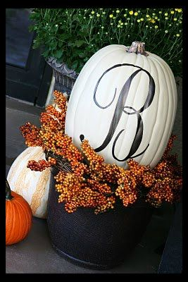 Faulkner's Ranch: Monogram and Family Name Pumpkins