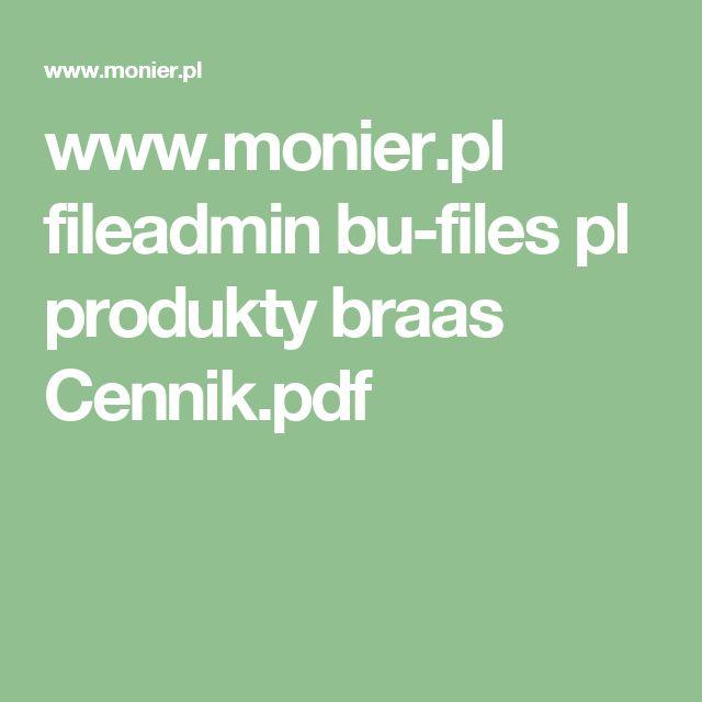 www.monier.pl fileadmin bu-files pl produkty braas Cennik.pdf
