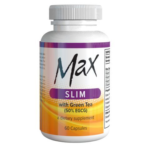 MAX SLIM 100% natural ingredients combine the likes of Green Tea Extract Raspbe