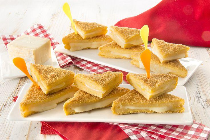 Triangoli di polenta farciti al taleggio