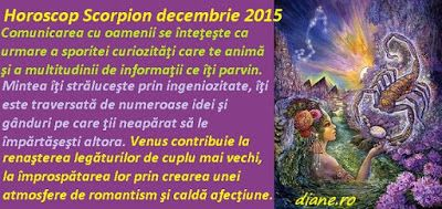 diane.ro: Horoscop Scorpion decembrie 2015