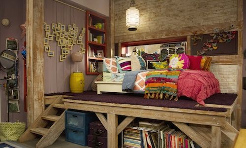Teddy Duncan's bed from Good Luck Charlie. I know it's a kids show but I love the idea and look of it.