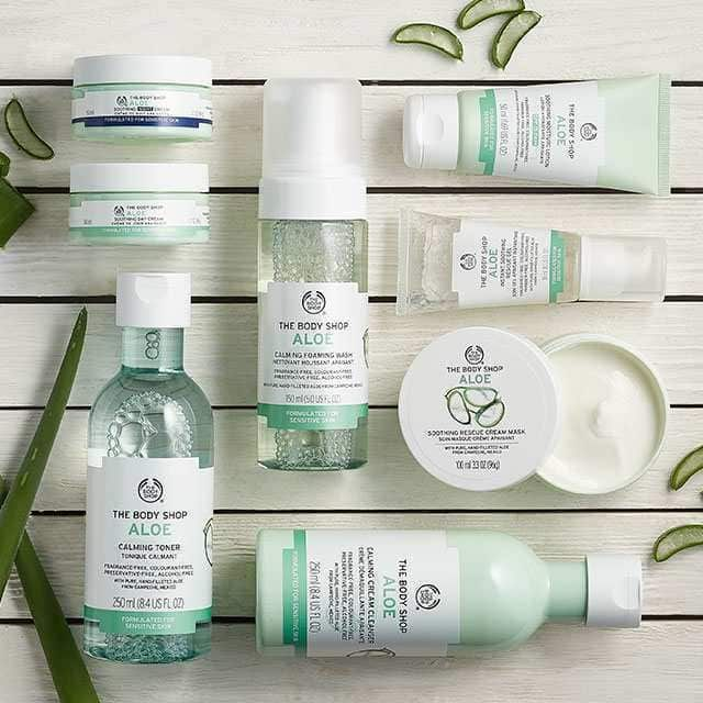 Our Range Of Fragrance Free And Alcohol Free Aloe Vera Products Is Clinically Proven To Be Suitable Fo Body Shop Skincare Dry Skin Care Fragrance Free Products