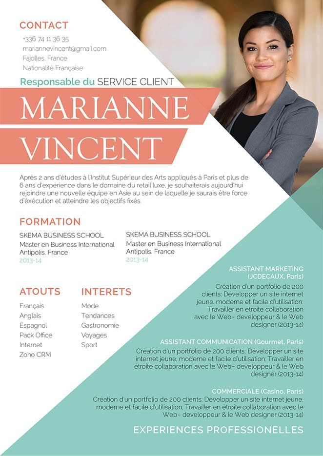 20 best Resumes and CVs images on Pinterest | Resume templates ...