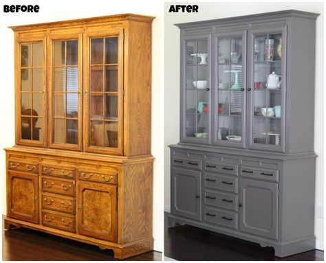 painting our china cabinet meubles relooking meuble et. Black Bedroom Furniture Sets. Home Design Ideas