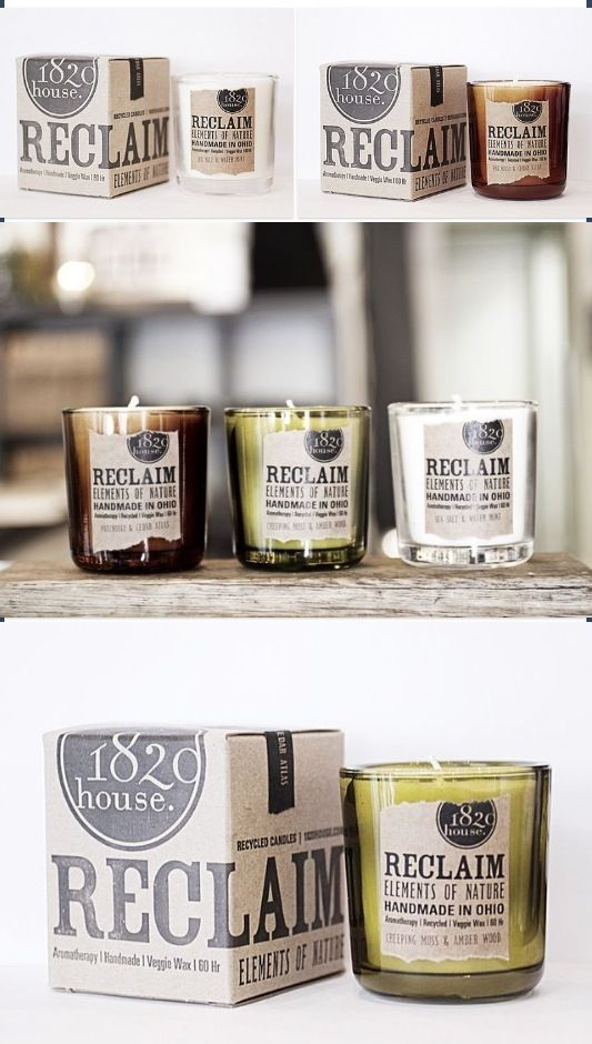 Vintage-inspired candle #labels | Reclaim Elements by 1820 House                                                                                                                                                                                 More