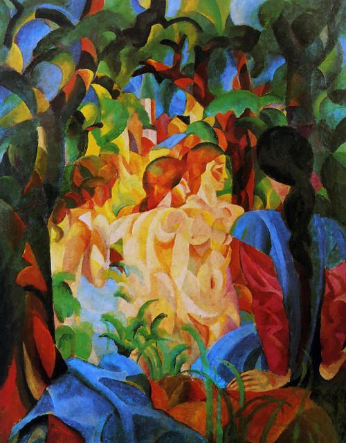 August Macke - Bathers (1913)