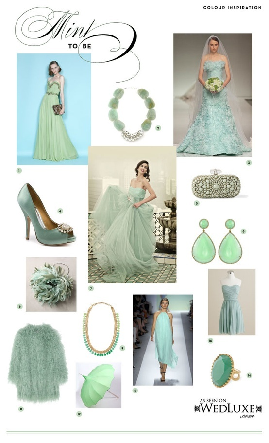 Mint: Spring Bride....too cool for this warm weather! BlissBySam.com Daring Devoted.com