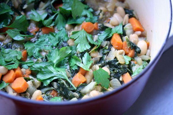 Swiss Chard and White Bean Stew | Vegetarian Recipes | Pinterest