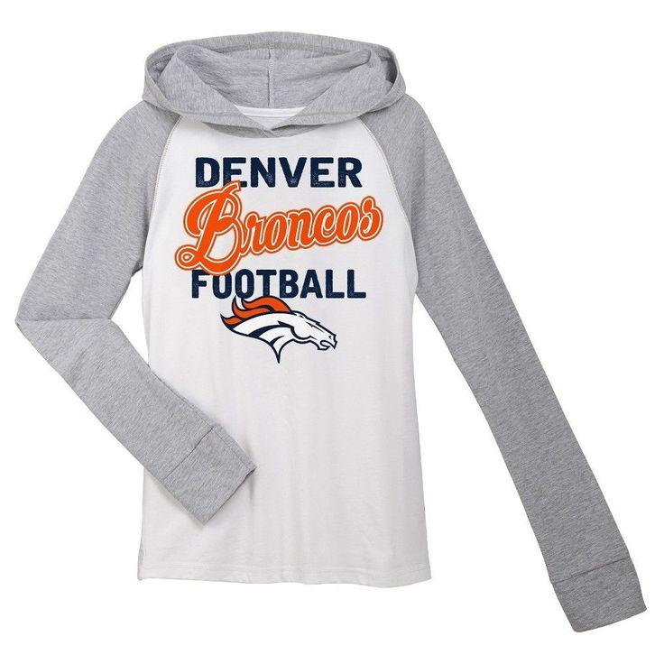 T-Shirt Denver Broncos Team Color XL, Girl's, Gray White