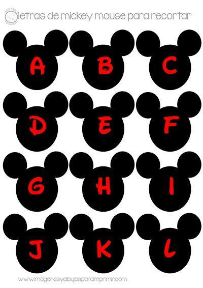 Mickey mouse en letras para decorar su cumpleaños, recorta su nombre, un feliz cumpleaños su edad con los números de Mickey mouse y conseg...