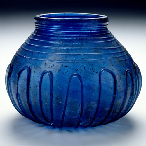Cuddesdon Bowl: Anglo-Saxon glass bowl from Cuddesdon, Oxfordshire. This early seventh-century Anglo-Saxon bowl, probably made in Kent, was discovered in 1847 in Cuddesdon, Oxfordshire. It was found in the grave of an Anglo-Saxon of noble rank, during alterations to the Bishop of Oxford's palace. The bowl subsequently went missing and was re-discovered in 1971 in a house in Leicestershire, where it was being used as flower vase.
