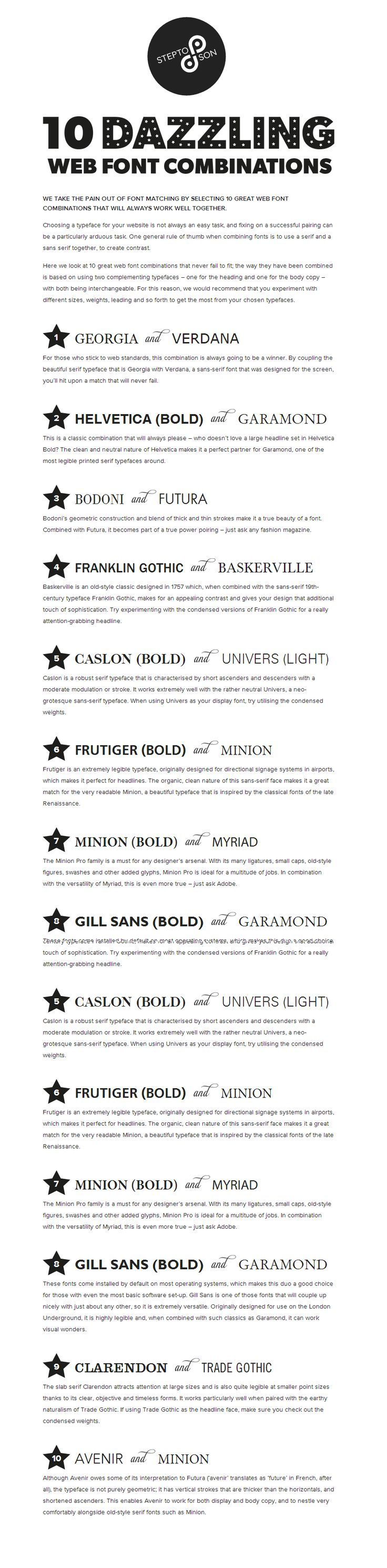 We Take The Pain Out Of Font Matching By Selecting 10 Great Web Font  Combinations That Will Always Work Well Together. Choosing A Typeface For  Your .  Best Font Resume
