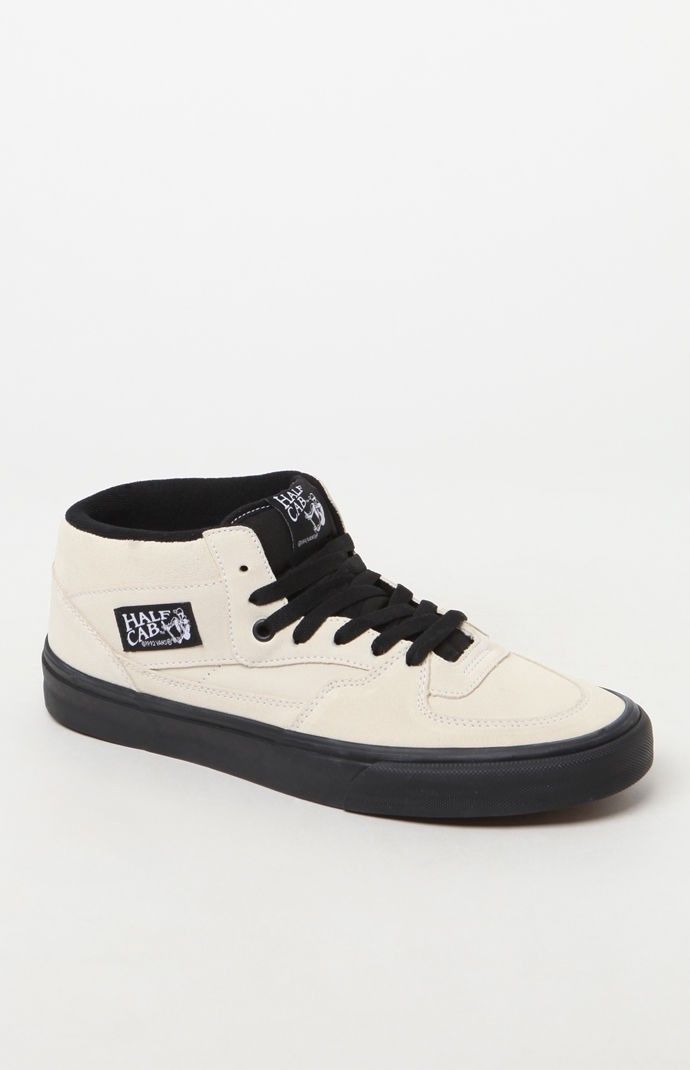 white vans with black sole