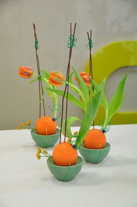 tulips + oranges design uncredited
