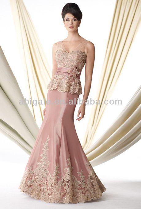 De alta calidad elegante de sirena de color rosa de encaje y satén cuello v apliques a mano- hecho de flores de hong kong vestid-XL Falda-Identificación del producto:300001141203-spanish.alibaba.com