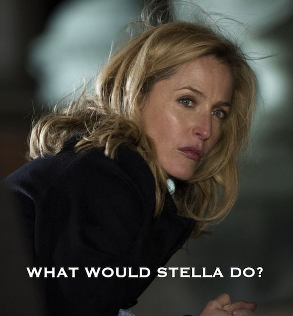 Gillian Anderson as  Stella Gibson in The Fall.