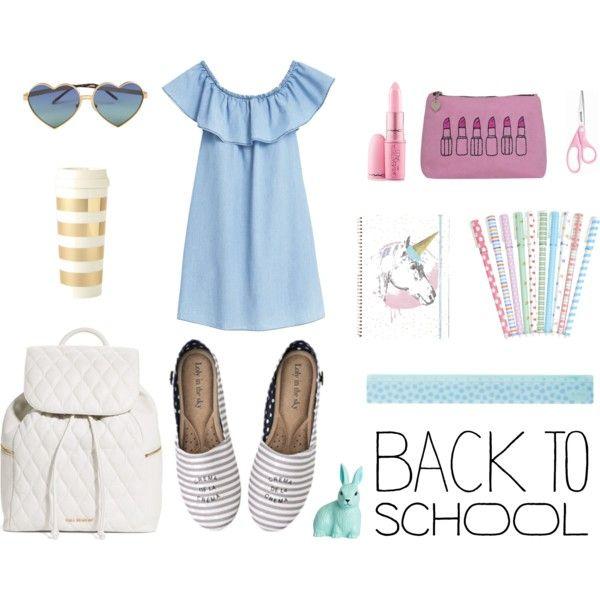 Back to school <3 by lolyinthesky on Polyvore featuring moda, MANGO, Vera Bradley, Wildfox, Giambattista Valli, H&M, Emma Lomax and Kate Spade