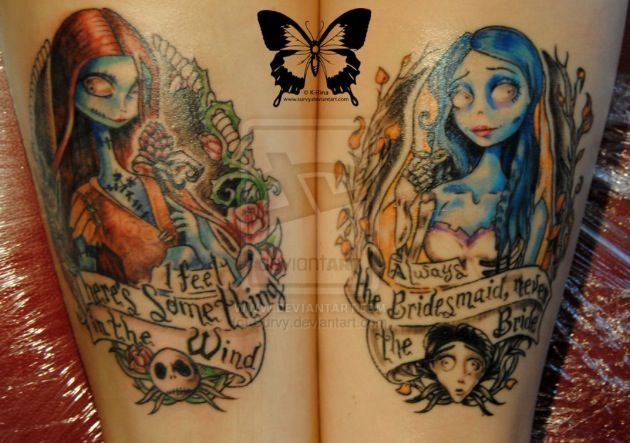 OMG love it hmmmm maybe maybe...Tim Burton - The Nightmare Before Christmas - The Corpse Bride #tattoo