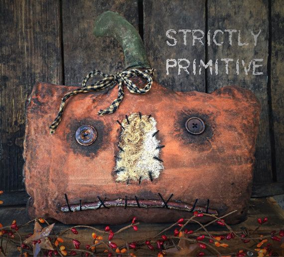 Primitive Pumpkin  primitive fall decor by StrictlyPrimitive