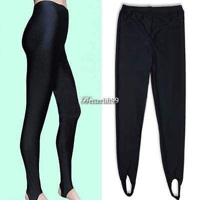 Women High Waist Stretch Skinny Shiny Spandex Leggings Pants Slim Fit Tight