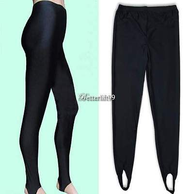 Women High Waist Stretch Skinny Shiny Spandex Leggings Pants Slim Fit Tight