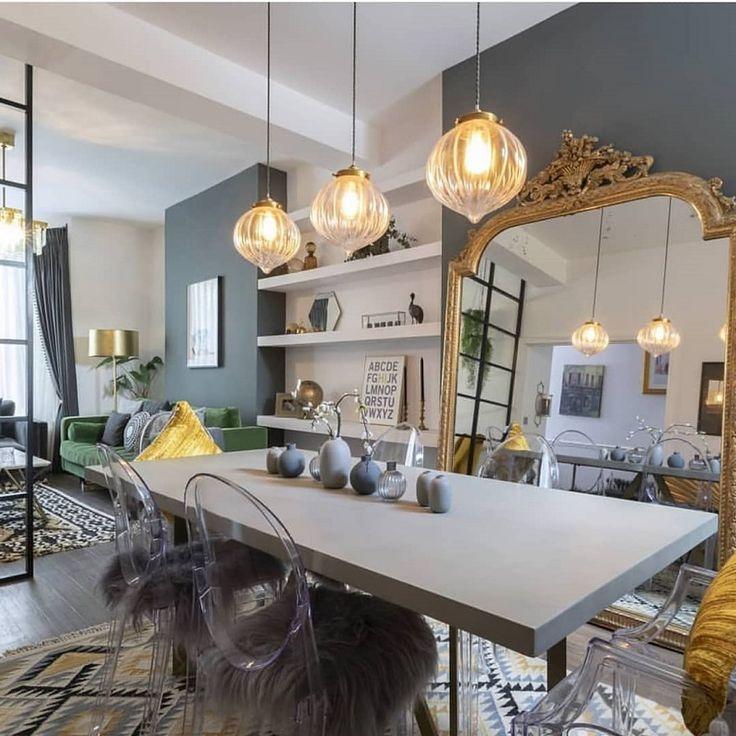 Long, narrow living dining lighting in 2020   Dining room ...