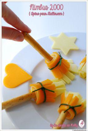 Biscuits apéritifs Halloween Nimbus 2000 au fromage : la recette facile