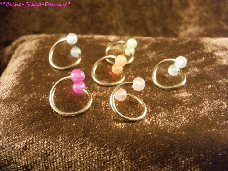 Piercing 24 Karat Gold Spirale Twister Brust Lippenpiercing Ohr  Circular Labret