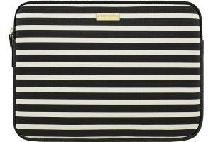"""kate spade new york - Sleeve for 13"""" Apple® MacBook® - Fairmont Square Black/Cream - Front Zoom"""