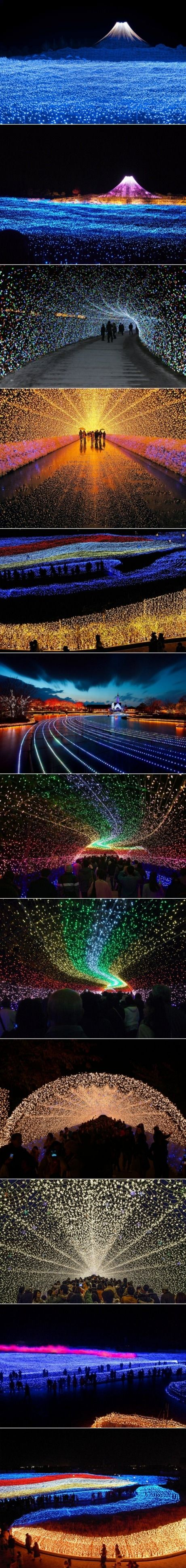 ~Japan's Winter Lights Festival made from 7 million LED's | House of Beccaria