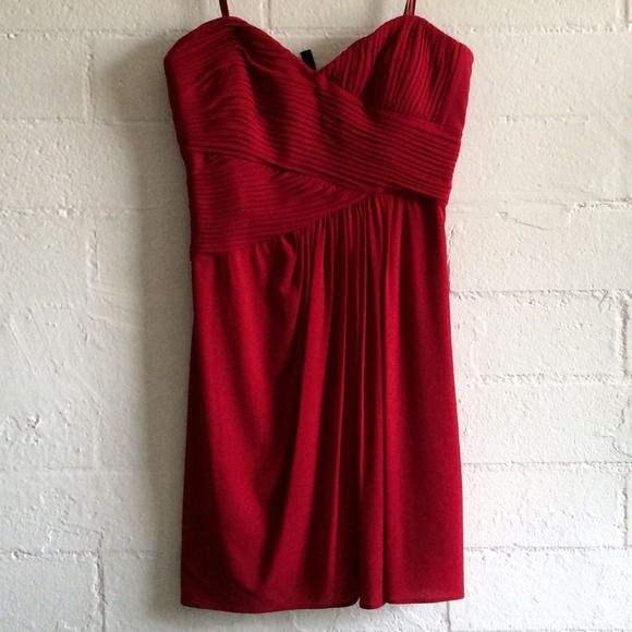 Red night out dress NWT never worn. Beautiful dress BCBGeneration Dresses Prom