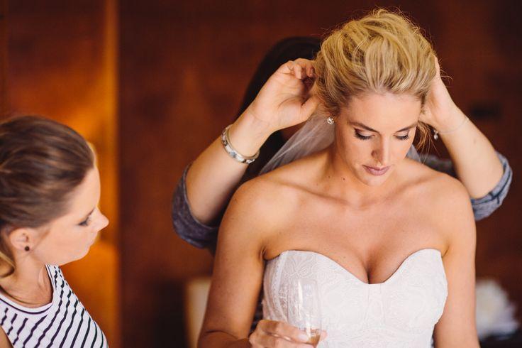 Bride putting on the final touches- Park Hyatt Melbourne Weddings