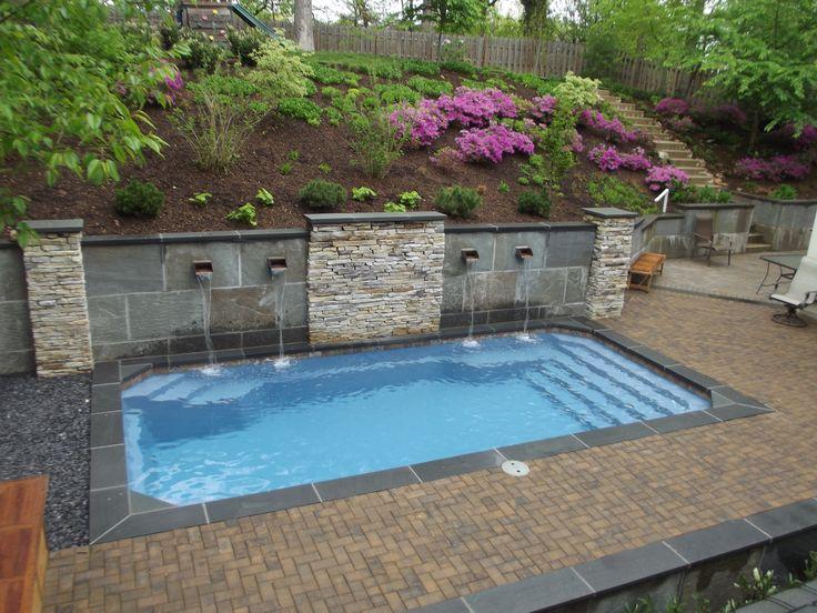 Barrier Reef 12X24 fiberglass pool installed by River Pools and Spas in Arlington Virginia