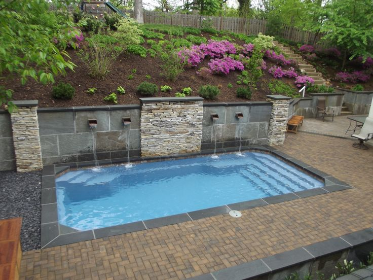 Barrier Reef 12X24 fiberglass pool installed by River Pools and Spas in Arlington Virginia