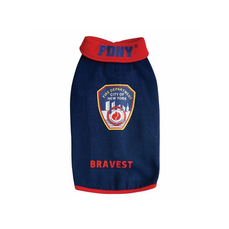 Royal Animals Fdny Fire Badge Dog Sweatshirt, Blue