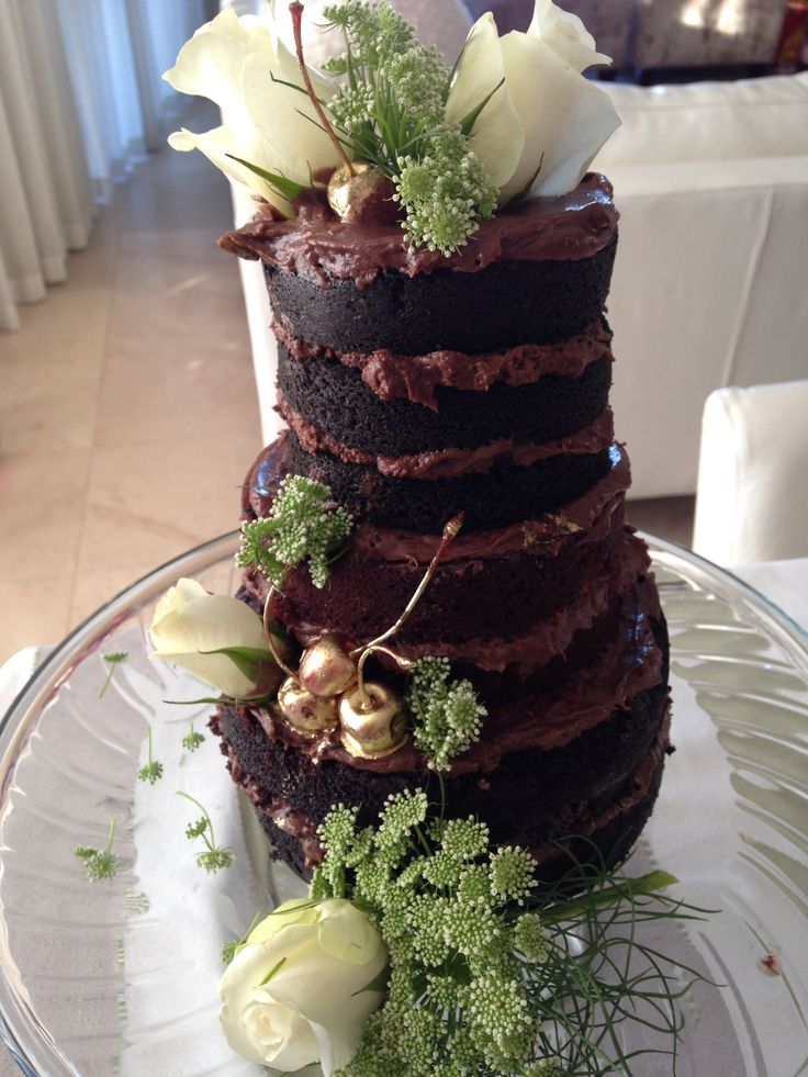 Naked chocolate tiers