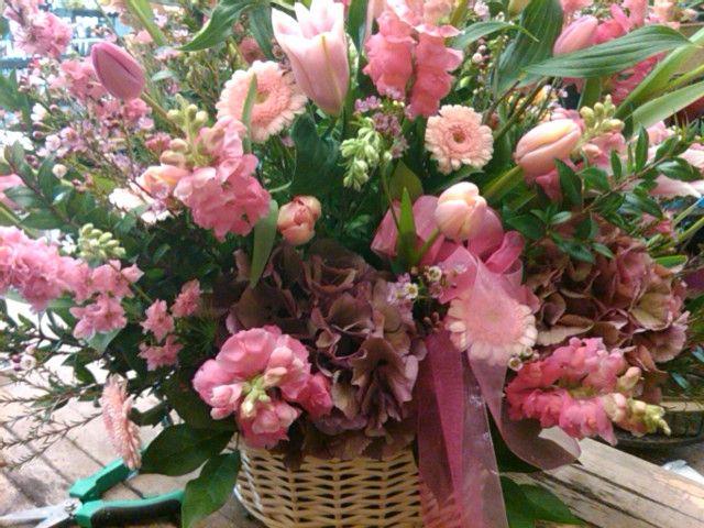 Sympathy Basket in Pink