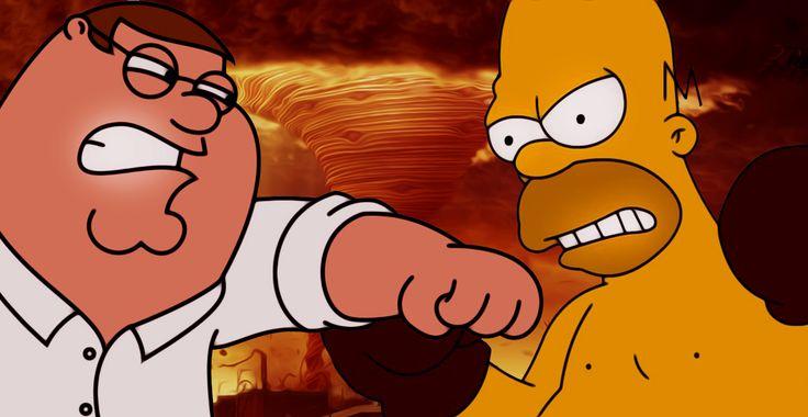 """Симпсоны и Гриффины в одном мультфильме!  Видео: http://ufa-room.ru/simpsony-i-griffiny-v-odnom-multfilme-91170/  Первая серия 13 сезона мультсериала """"Гриффины"""" удивит всех фанатов. Гомер Симпсон и Питер Гриффин впервые встретятся на большом экране и выяснят наконец, чье шоу круче!"""