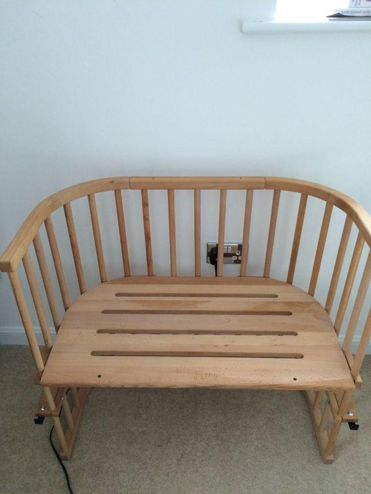 BabyBay MAXI Co-Sleeping Twins Cot - natural beech with mattress & side rail