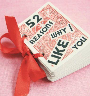 ❤ 52 ok amiért imádlak téged - lapozható füzet kártyákból ❤Mindy -  kreatív ötletek és dekorációk minden napra