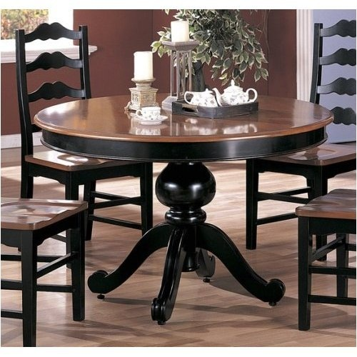 dark and black table