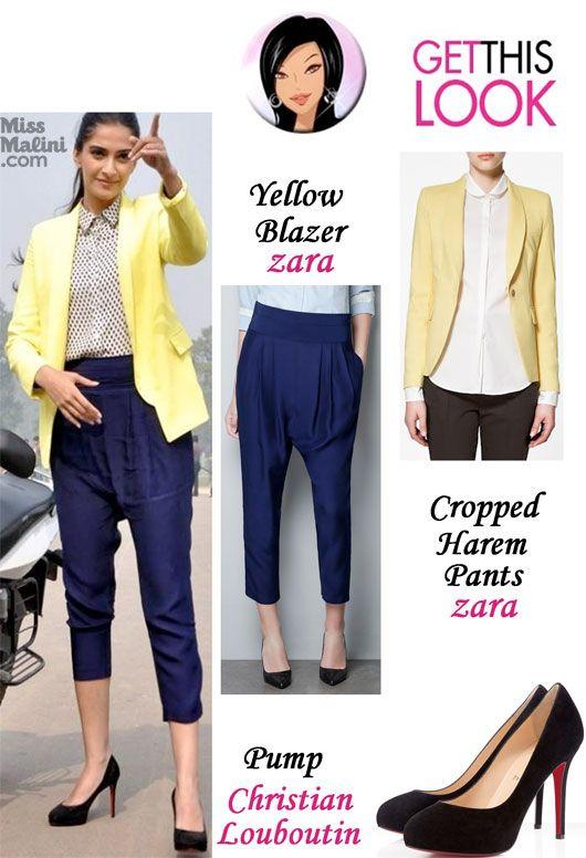Sonam Kapoor in Zara pants