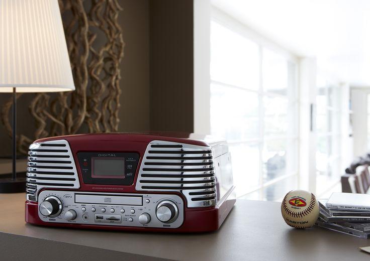 td79 turntable 60 39 s red turntable 33 45 78 rpm cd. Black Bedroom Furniture Sets. Home Design Ideas