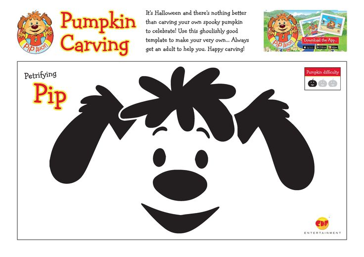 Use these ghoulishly good template to carve your very own Petrifying Pip Pumpkin! Always get an adult to help you! #Halloween #HappyCarving #PetrifyingPip