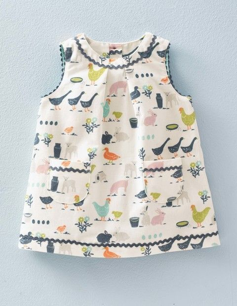 awesome Baby Boden Retro Cord Pinnie in Ecru Farmyard // $34.65...