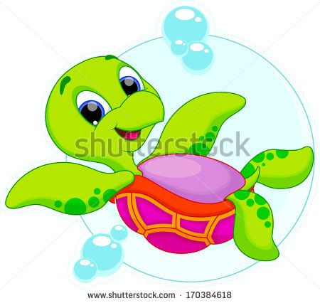 Stock Images similar to ID 156399980 - happy sea turtle cartoon