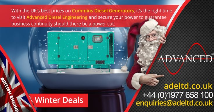 With the UK's best prices on Cummins Diesel Generators, it's the right time to visit Advanced Diesel Engineering and secure your power to guarantee business continuity should there be a power cut.  #DieselGenerators #Gensets  Visit www.adeltd.co.uk now for the UK's best prices on Diesel Generators!